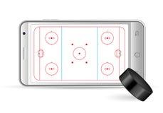 Smart phone hockey. On a white background Stock Image