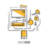 Smart phone with home control application. Royalty Free Stock Photography