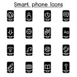 Smart phone icon set. Illustration graphic design Stock Photography
