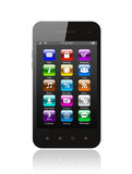 Smart phone with icons Stock Image