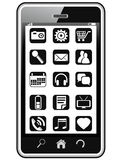 Smart phone icons Royalty Free Stock Photos