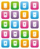 Smart phone icons - flat style icons Royalty Free Stock Photos