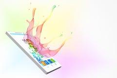 Smart phone illustration Stock Photos