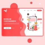 Illustration for web page or landing page, flat design style, smart phone illustration stock illustration
