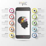Smart Phone Infographics. Modern Design Template. Vector Illustration Royalty Free Stock Photo