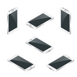 Smart Phone Isolated. Mobile phone flat 3d vector isometric illustration. Royalty Free Stock Images