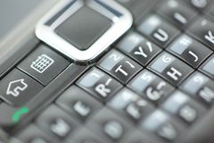 Smart Phone Keypad Qwerty Close Up. Smart Phone keypad Qwerty keys close up Royalty Free Stock Photography