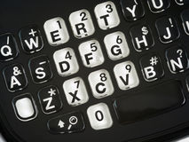 Smart Phone keypad Qwerty close up Royalty Free Stock Photo
