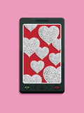 Smart phone love Stock Photos