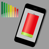 Smart phone low energy  Royalty Free Stock Photo