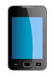 Smart Phone lucido con il touch screen blu Fotografia Stock Libera da Diritti