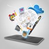 Smart phone media vector illustration