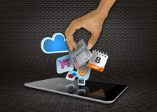 Smart phone media Royalty Free Stock Photos