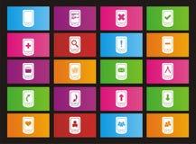 Smart phone metro style icons Stock Image