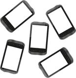 Smart phone for mobile communication background Stock Photos