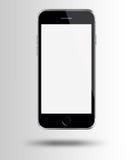 Smart Phone mobile con lo schermo bianco su fondo grigio Immagine Stock