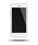 Smart Phone mobile con lo schermo nero isolato su fondo bianco Immagini Stock
