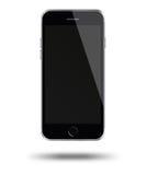 Smart Phone mobile con lo schermo nero isolato su fondo bianco Fotografie Stock