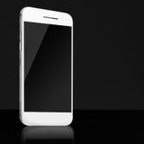 Smart Phone mobile con lo schermo nero su fondo scuro Immagine Stock Libera da Diritti