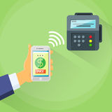 Smart Phone Mobile Payment Device Nfc Terminal vector illustration