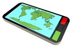Smart phone navigation Stock Images
