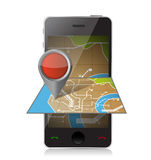Smart phone navigation. mobile gaps illustration Stock Photography