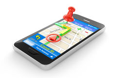 Smart phone navigator Stock Photography