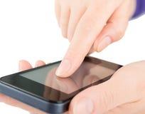 Smart Phone nelle mani Fotografia Stock