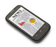 Smart Phone News Stock Photography