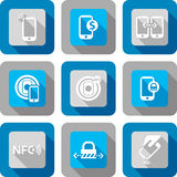 Smart phone with NFC technology icon Royalty Free Stock Photos
