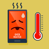 Smart Phone Over Heated Icon Royalty Free Stock Photography