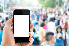 Smart phone and people Stock Photo