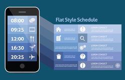 Smart phone personal schedule Royalty Free Stock Photos