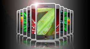 Smart phone presentation Royalty Free Stock Image