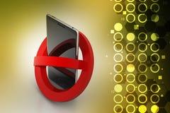 Smart phone prohibition concept Stock Photos