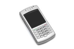 Smart phone with qwerty keyboard. On an isolated white background stock photos