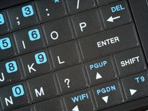 Smart Phone QWERTY keypad enter angle close up.jpg Stock Image
