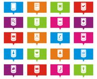 Smart phone rectangle pointers Stock Images