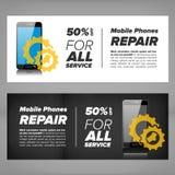 Smart phone repair banner Royalty Free Stock Photography