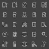 Smart phone repair icons royalty free illustration