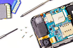 Smart phone repair. Stock Photography