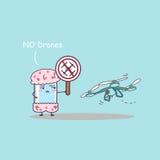 Smart phone say no drones Stock Photos