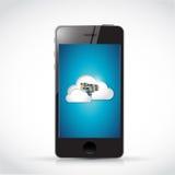 Smart phone server data access illustration Royalty Free Stock Photos