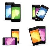 Smart phone Set. On white background, icon illustration Royalty Free Stock Photography