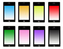 Smart Phone Set Color Screen Royalty Free Stock Images