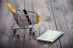 Smart phone shopping, Royalty Free Stock Photo