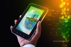 Smart phone showing Ecology concept Stock Image