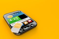 Smart phone with SIM card Stock Image