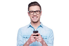 Smart phone for smart people! Stock Image