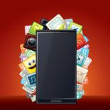 Smart Phone Smartphone Apps Background Royalty Free Stock Photos